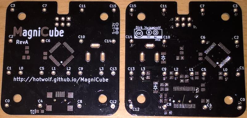 MagniCube RevA PCBs